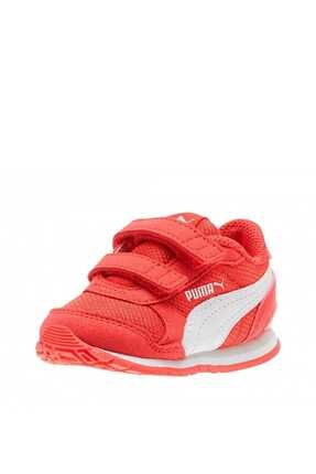 Puma St Runner V2 Mesh V Inf Kırmızı Beyaz Unisex Çocuk Sneaker Ayakkabı 100415123 resmi