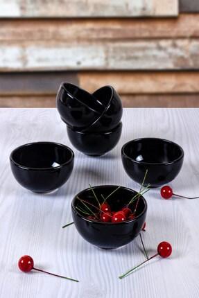 Keramika Siyah Bulut Mini Çerezlik / Sosluk  8 Cm 6 Adet 0