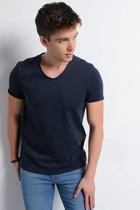 Rodi Jeans Erkek T-Shirt V Yaka Pis Dikiş Basic 2