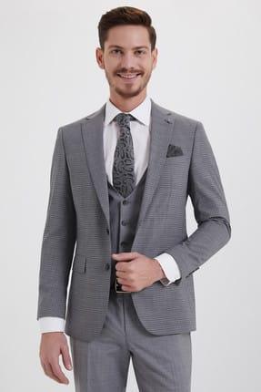 Hatemoğlu Yelekli Klasik Gri Takım Elbise 33201319C018 2