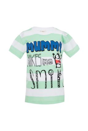 Açık Yeşil Erkek Bebek Kısa Kol T-Shirt SBAECTSRT731_00-0063 resmi