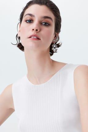 İpekyol Kadın Ekru Sırt Pencereli Kuşaklı Triko IS1190050065018 2