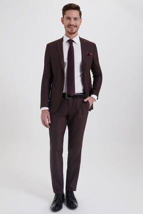 Hatemoğlu HTML Desenli Slim Fit Takım Elbise 33202018C357 0