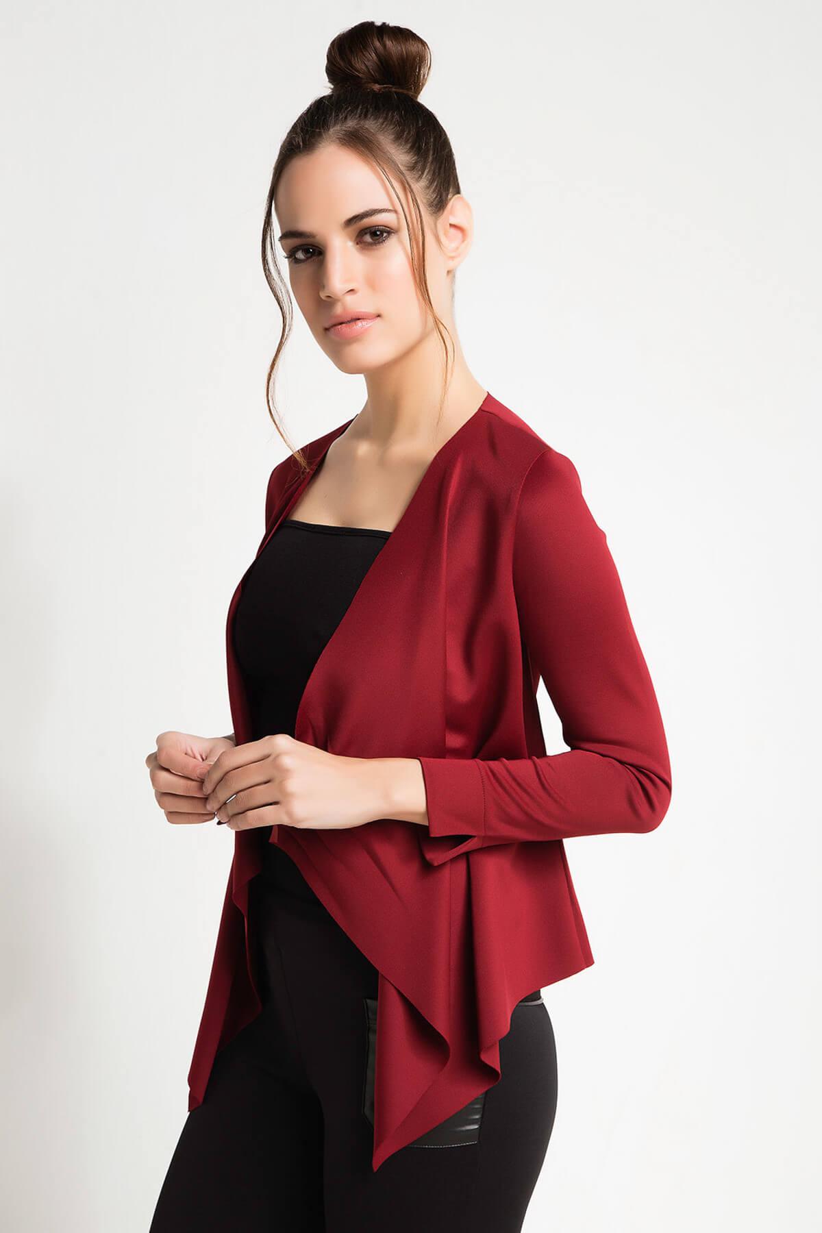 Kadın Bordo Ceket 15L4472-L