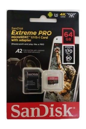 Sandisk Extreme Pro 64 GB Micro SD Hafıza Kartı A2 170MB/s 1
