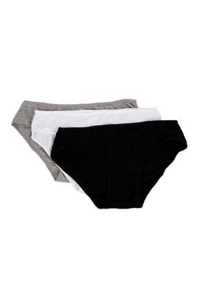 Penti 3'lü Paket Siyah Beyaz Gri Kadın Cover Slip Külot PLCOVR3S12SK 1