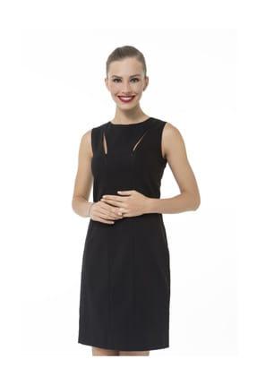 Accouchee Siyah Emzirme Özellikli Şık Elbise 2