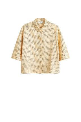 Mango Kadın Sarı Puantiyeli Bluz 41065811 2