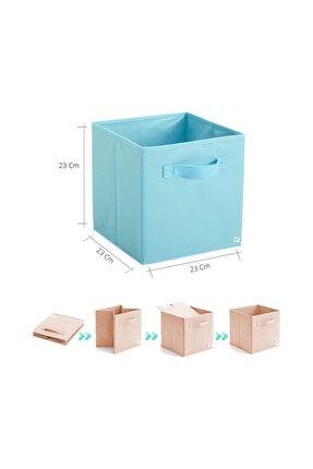 Rani Mobilya Q1 Medium Çok Amaçlı Dolap İçi Düzenleyici Kutu Dekoratif Saklama Kutusu Organizer Açık Mavi 2