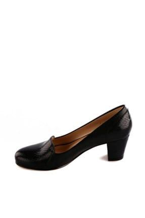 Dgn Siyah Rugan Siyah Kadın Klasik Topuklu Ayakkabı 258-148 2