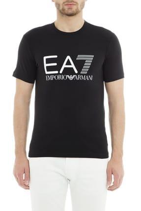 EA7 Erkek Siyah  T-Shirt 0