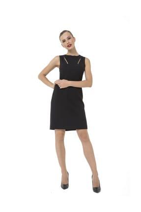 Accouchee Siyah Emzirme Özellikli Şık Elbise 0