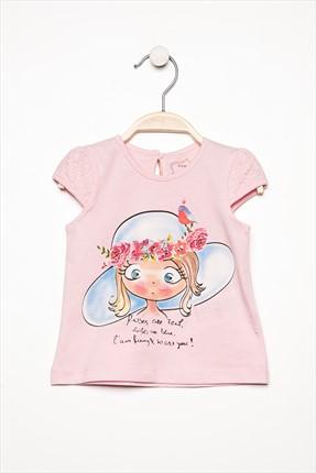 ACIKPEMBE Kız Bebek T-Shirt resmi