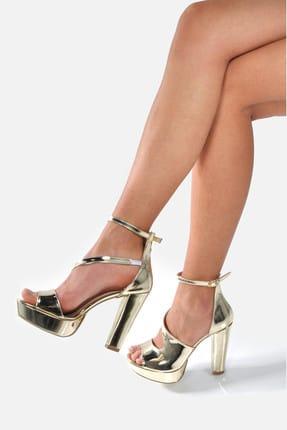 Altın Kadın Topuklu Ayakkabı 146903
