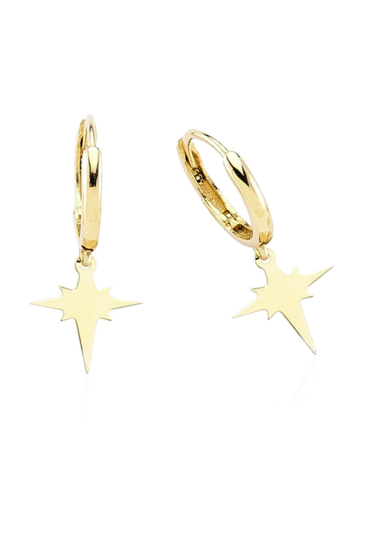 Kadın Altın Kutup Yıldızı Küpe CM0518
