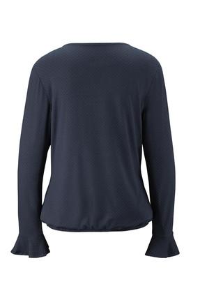 Tchibo Lacivert Volanlı Bluz 93242 3