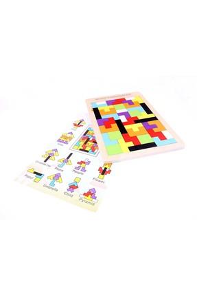 AKADEMİLOJİ Ahşap Blok Tetris Oyunu / 2