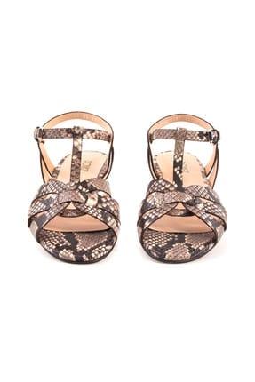 ROUGE Hakiki Deri  Kadın Groccıa Yılan Sandalet 181RGK720 0197-85 1