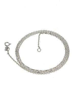 Söğütlü Silver Kadın Rodyumlu ;Kolye Zinciri(60 Cm) SGTL6372 0