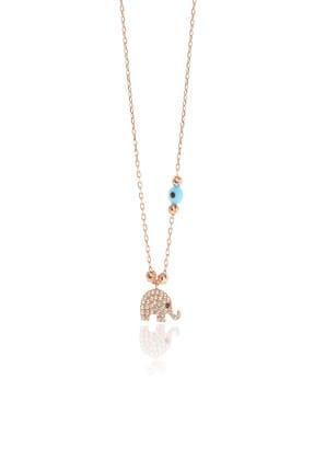 Söğütlü Silver Kadın Gümüş Dorica Toplu Fil Kolye SGTL8869 0