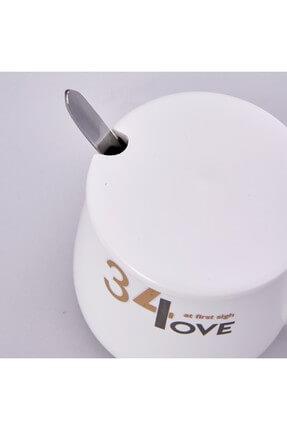 Karaca Beyaz Küçük Kahve Mug 1