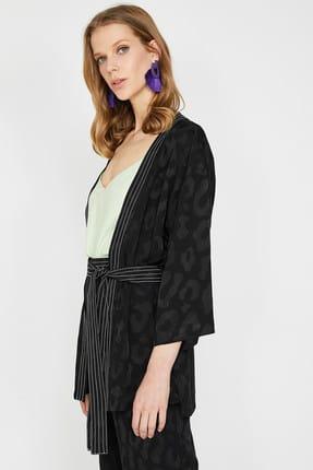 Koton Kadın Siyah Ceket 9YAK52061UW 1