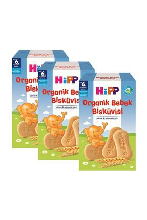 Hipp Organik Bebek Bisküvisi 150 gr x 3 Adet 0