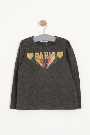 Antrasit Kız Bebek T-Shirt resmi