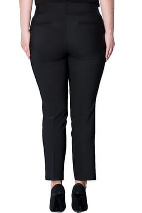 Hanezza Kadın Siyah Bilek Boy Cepli Pantolon PT2136 2