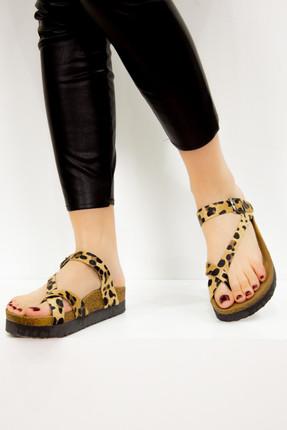Fox Shoes Leopar Kadın Terlik B777753002 0