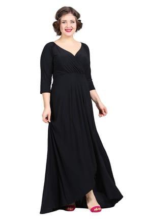 Angelino Kadın Siyah Genç Abiye Elbise KL56 1