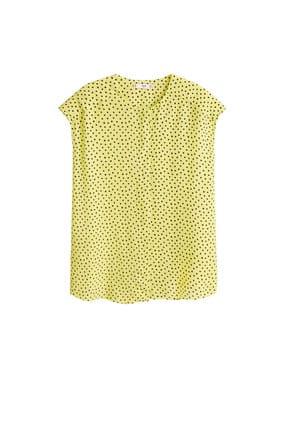 Mango Kadın Çim Rengi Puantiyeli Bluz 41015830 3