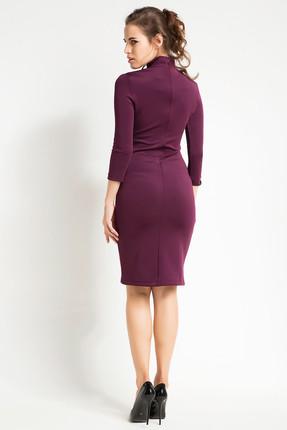 Laranor Kadın Mürdüm Yaka Detaylı Kalem Elbise 15L4548 1