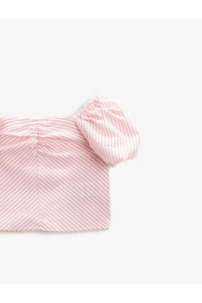 Koton Kız Çocuk Çizgili Bluz Balon Kollu 2