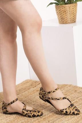 Fox Shoes Leopar Kadın Ayakkabı D726016902 0