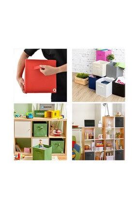 Rani Mobilya Rani Q1 Medium Çok Amaçlı Dolap Içi Düzenleyici Kutu Dekoratif Saklama Kutusu Raf Organizer Kırmızı 2