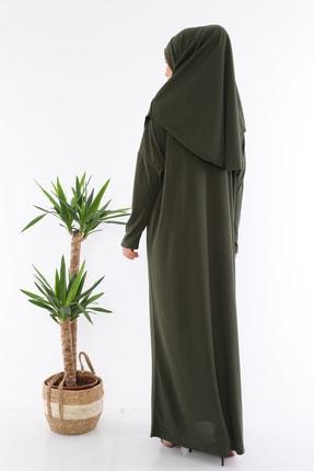 medipek Kolay Giyilebilen Tek Parça Namaz Elbisesi Haki 2
