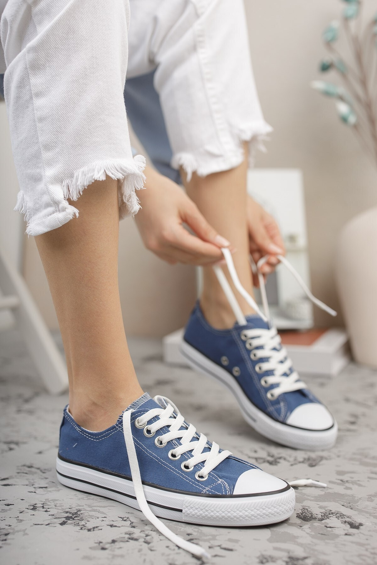 Unisex Kot Mavi Sneaker 0012101