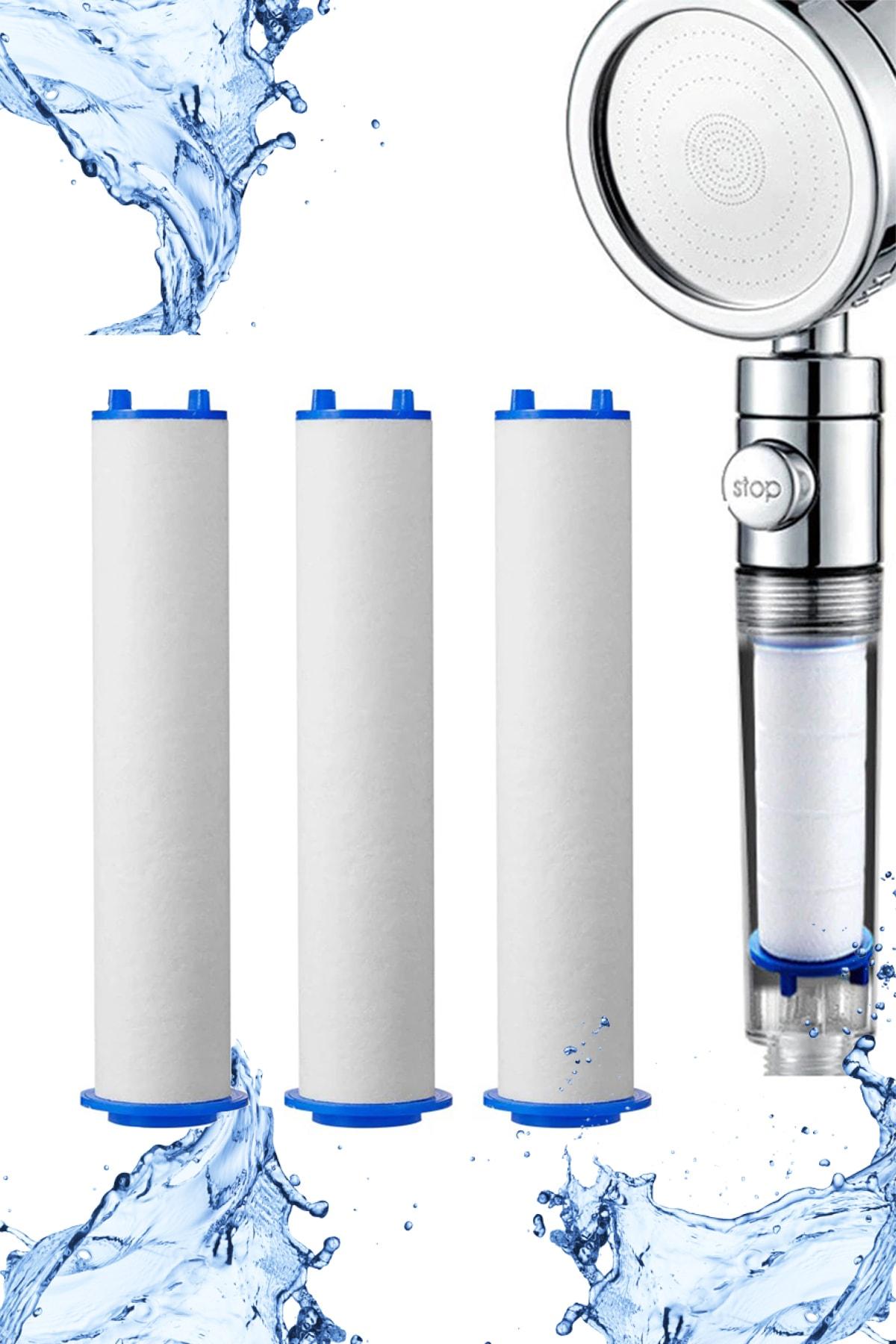 3 Adet Duş Başlığı Filtresi Kireç Önleyici Filtre