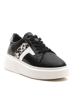 GRADA Kadın Deri Siyah Sneaker Ayakkabı 2