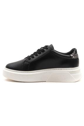 GRADA Kadın Deri Siyah Sneaker Ayakkabı 3