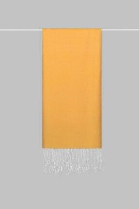 KROREN Kadın Sarı İpeksi Şal 1