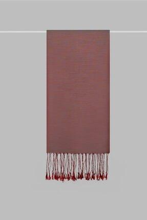 KROREN Kadın Kırmızı İpeksi Şal 1