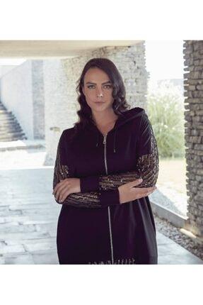 Kadın Payetli Büyük Beden Sweatshirt resmi
