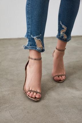 TRENDYOLMİLLA Mavi Paça Detaylı Yüksek Bel Slim Fit Jeans TWOAW21JE0067 3