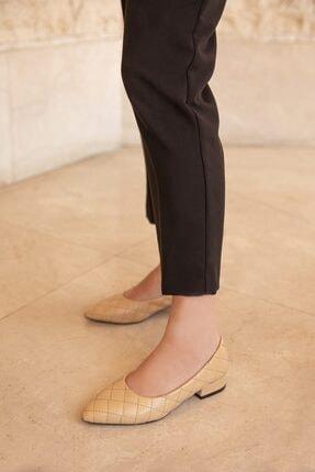 Straswans Worde Deri Topuklu Ayakkabı Ten 1