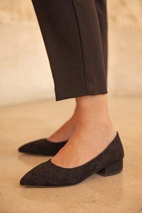 Straswans Worde Süet Topuklu Ayakkabı Siyah 1