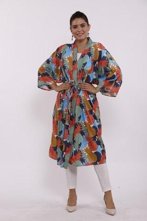 Moylin 2809 Desenli Kimono 0