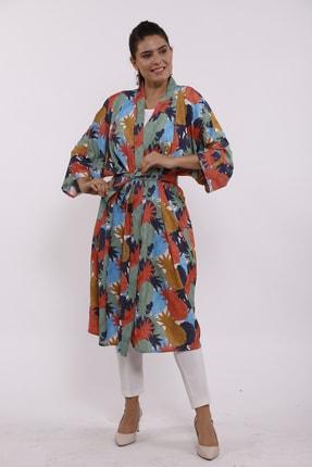 Moylin 2809 Desenli Kimono 1