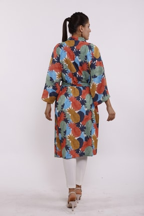Moylin 2809 Desenli Kimono 2
